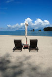 Tanjung Rhu Beach, Langkawi in Malaysia. A sunny day on a paradise island Royalty Free Stock Photos