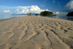 Tanjung Rhu Beach, Langkawi in Malaysia. A sunny day on a paradise island Royalty Free Stock Photo