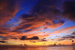 Tanjung TaHuna sunset Royalty Free Stock Photo
