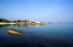 Tanjung Tinggi Beach. Is located in Belitung Island, Indonesia near the hamlet of Tanjung Tinggi Stock Photography