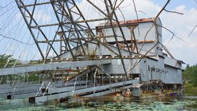 Tanjung Tualang porzucał srebną kopalnictwo bagrownicę podczas Brytyjskiego kolonisty zdjęcia royalty free