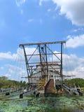 Tanjung Tualang porzucał srebną kopalnictwo bagrownicę podczas Brytyjskiego kolonisty obrazy royalty free