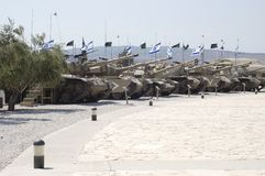 Tank(1). Tanks on display in Latrun military museum in Royalty Free Stock Photography