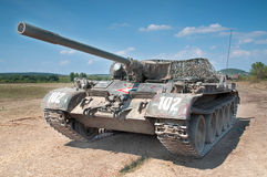Tank. Old T55 russian military tank Royalty Free Stock Photos