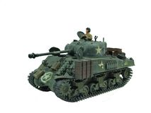 Tank. A miniature tank with a soldier Royalty Free Stock Image
