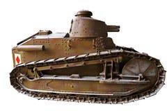 Tank. Old war II tank isolated on white Stock Photo