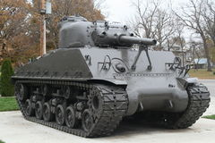 Tank. Old sherman tank in military memorial Royalty Free Stock Photo