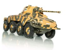 Tank. Painted in camouflage on white background Stock Images