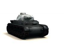Tank. 3d rendered tank pointing towards viewer with white background Stock Photo