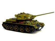 Tank. Medium ; T 34; Panzer; the Great Patriotic war; World War II; materiel; engineering; technics; toy; Aufbaumodell; model; soviet Stock Photo