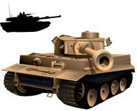 Tank. This is an in your face tank.  I put a image of a tank in the background just in case it was needed for effect Royalty Free Stock Images