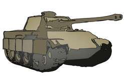 Tank. A  illustration of a military tank Stock Image