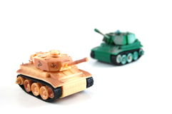 Tank. Toy tank isolated on a white background Stock Images