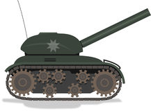 Tank. A toy tank side view Royalty Free Stock Photography