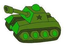 Tank. Vector illustration of a toy tank Stock Image