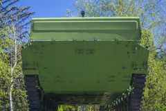 Tank 67 AK. view of the tank from below stock images