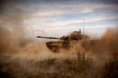 Tank. Battle tank at an army training ground Stock Image