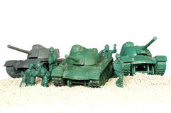 Tank battle toy plastic Stock Image