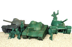 Tank battle toy plastic 2 Royalty Free Stock Image