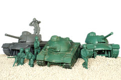 Tank battle toy plastic 3 Stock Images