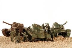 Tank battle toy plastic 4 Stock Photos