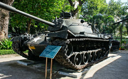 Tank bij het Museum van Oorlogsresten royalty-vrije stock foto's