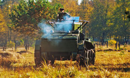 The tank bt-7 in movement Royalty Free Stock Image
