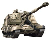 Tank in camouflage Stock Photo