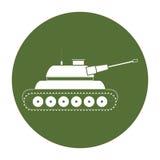 Tank car badge for navy war image. Illustration design Stock Photos