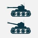 Tank car with cannon. Stock Photos