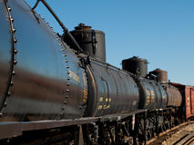 Tank Car. Denver, Colorado-November 29, 2011: This tank car carried crude oil from the oil fields of Farmington and Chama, New mexico to refineries in Alamosa Stock Photo