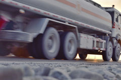 Tank car driving on the highway Royalty Free Stock Photo