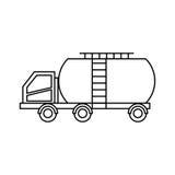Tank car isolated icon. Illustration design Royalty Free Stock Photos