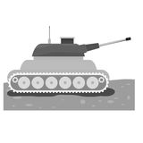 Tank car for navy contour icon. Illustration desing Stock Photography