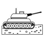 Tank car for navy figure icon. Illustration desing Stock Photography