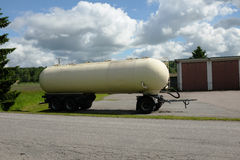 Tank car parked in the summer Stock Images