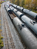 Tank cars carrying gas Royalty Free Stock Images
