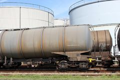 Tank cars Stock Images