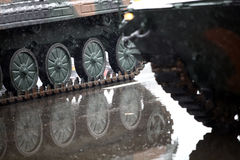 Tank caterpillar track Stock Photography