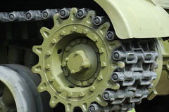 Tank Caterpillar Tread with Wheels Stock Photos