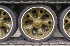 Tank Caterpillar Tread with Wheels royalty free stock photography