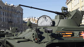 Tank closeup. A close up of a tank in Saint Petersburg, Russia Royalty Free Stock Photography