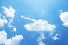 Tank cloud shape Stock Photos