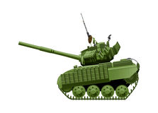 Tank in comics style. Vector drawing of heavy tank in comics style Royalty Free Stock Photography