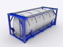 Tank container. On white background Stock Photography