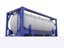 Tank container. On white background Stock Photo