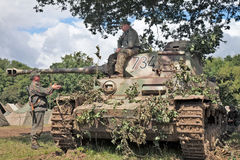 Tank corps resting Stock Images