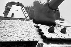 Tank Covered With Snow Stock Photography