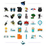 Tank, crane, pump and other web icon in black style  Royalty Free Stock Photo