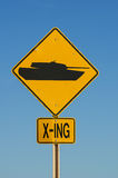 Tank Crossing Sign Royalty Free Stock Images